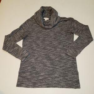 Loft turtle neck sweater gray